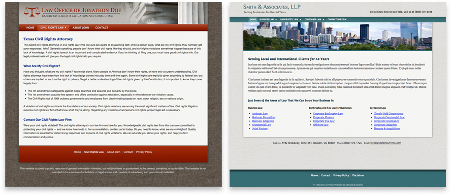 Law Firm Website Design, Attorney Website Design | Legal Web Site